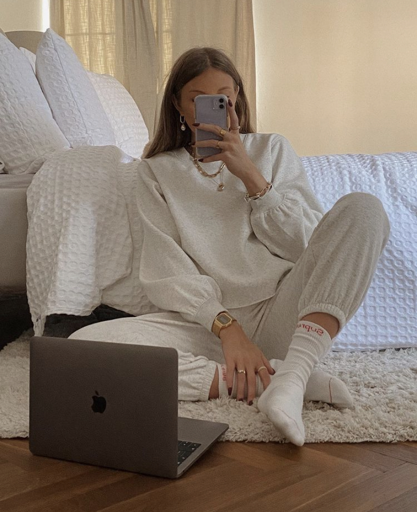 & Other Stories Loungewear Favourites - Cream Tracksuit