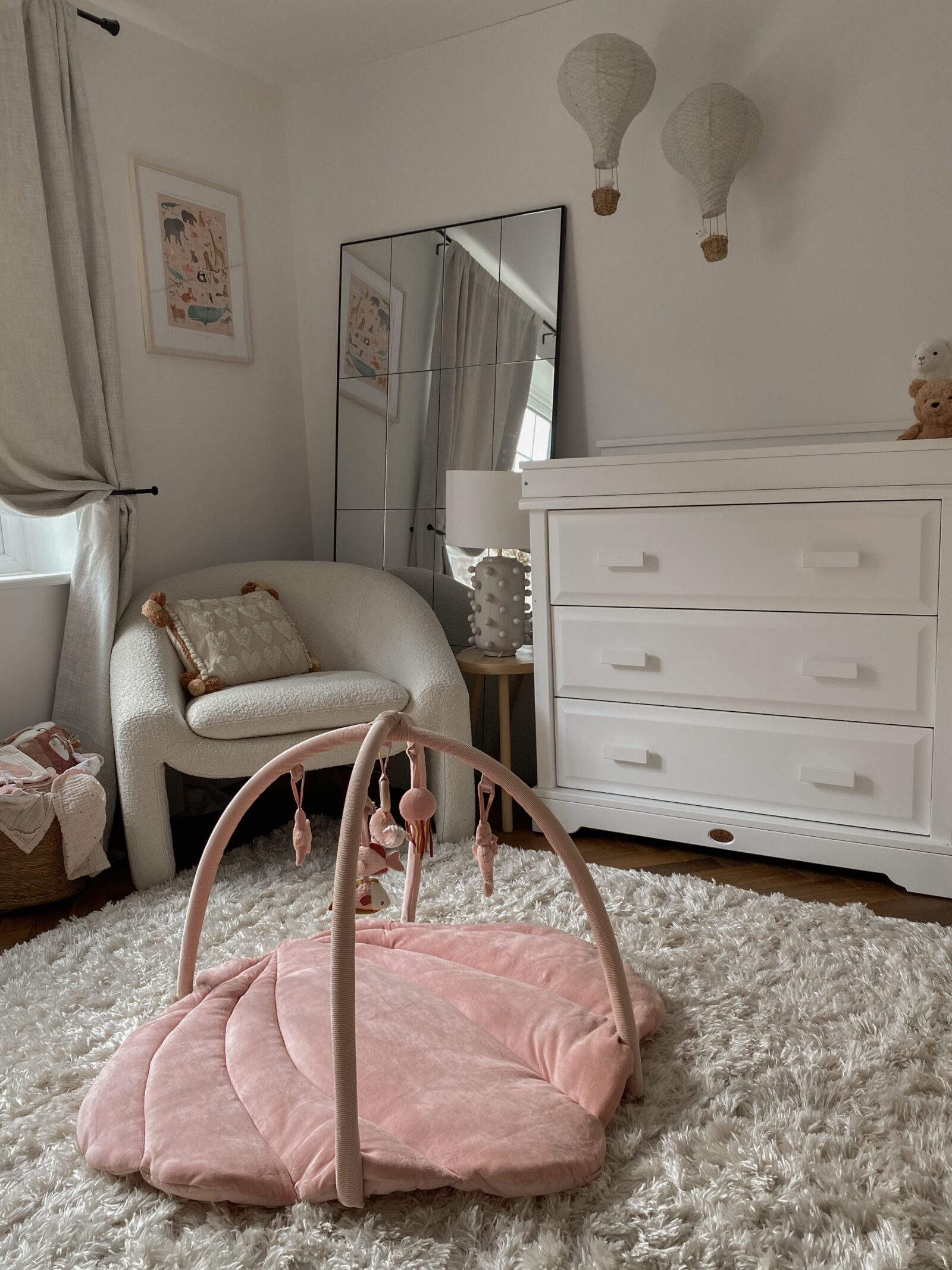 Baby Girl Nursery Decor - Little Dutch Pink Playmat