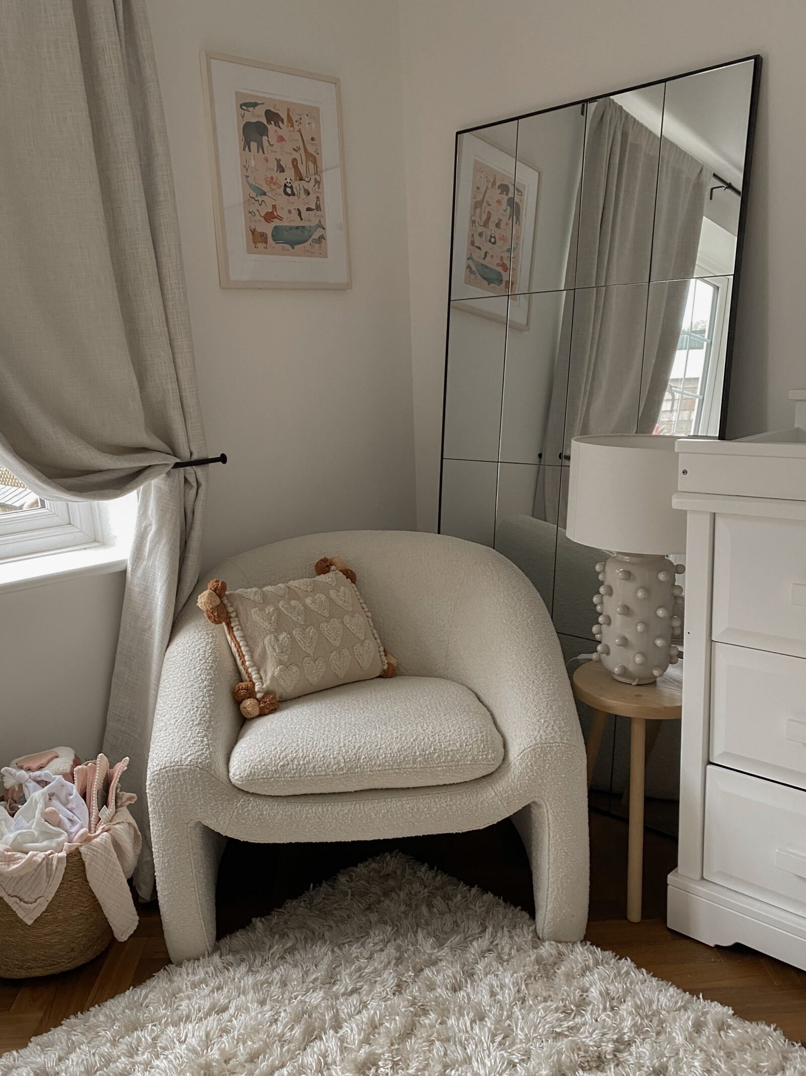 Baby Girl Nursery Decor - Made Boucle Chair