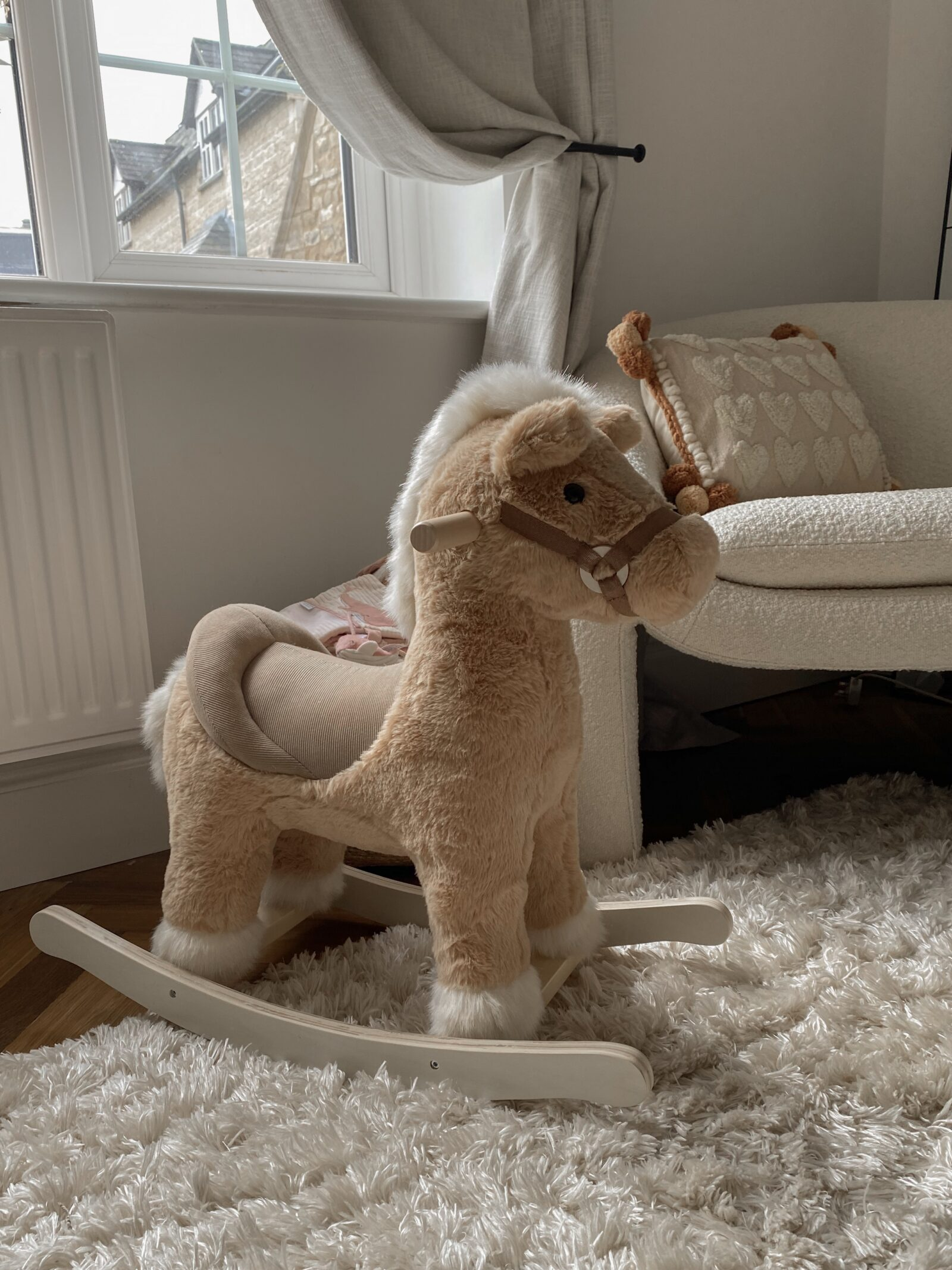 Baby Girl Nursery Decor - Mamas and Papas Rocking Horse