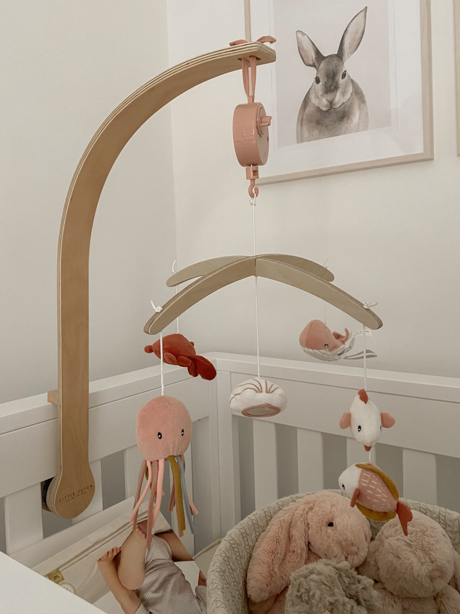 Baby Girl Nursery Decor - Pink Little Dutch Mobile