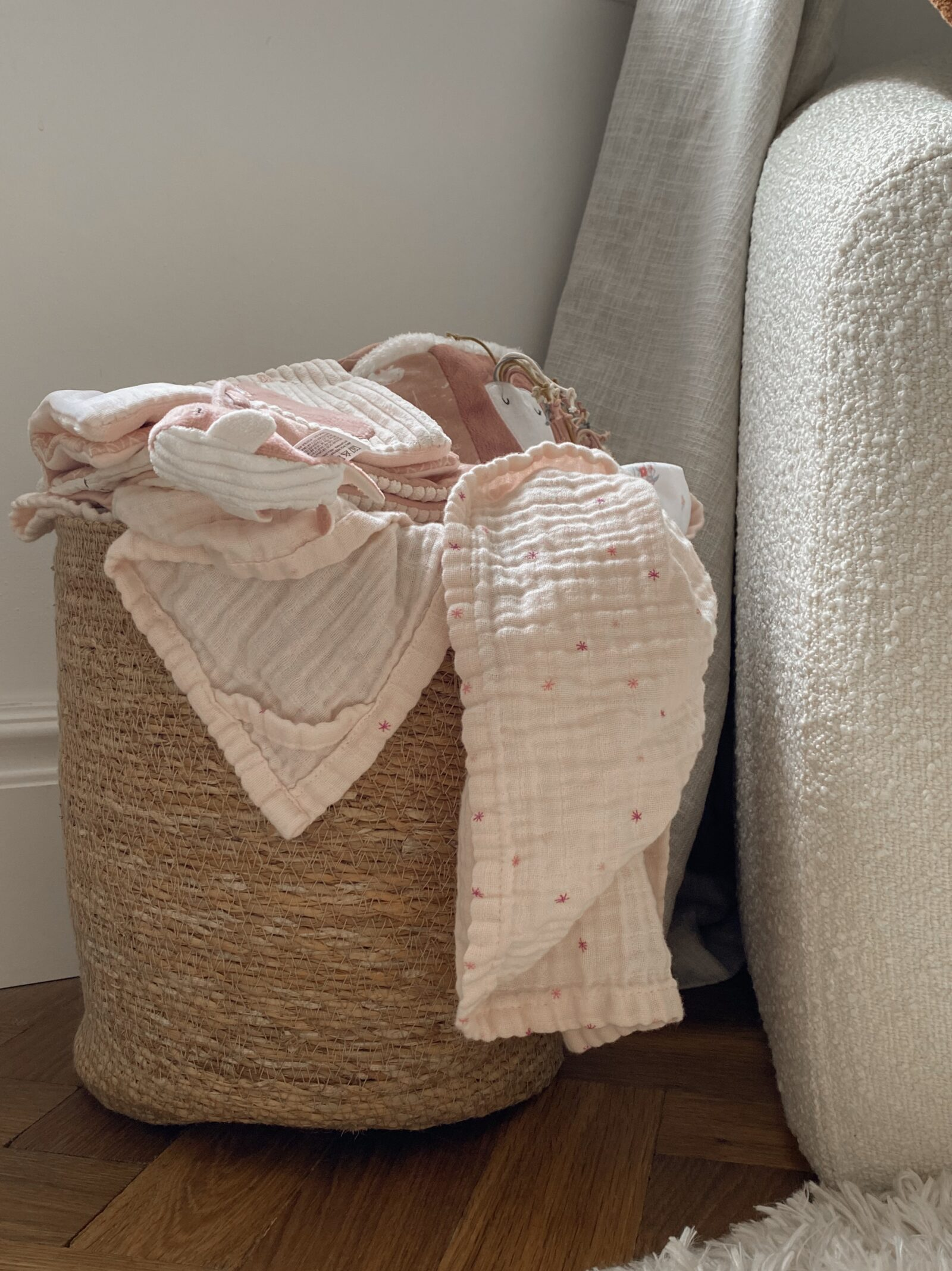 Baby Girl Nursery Decor - Zara Home Basket
