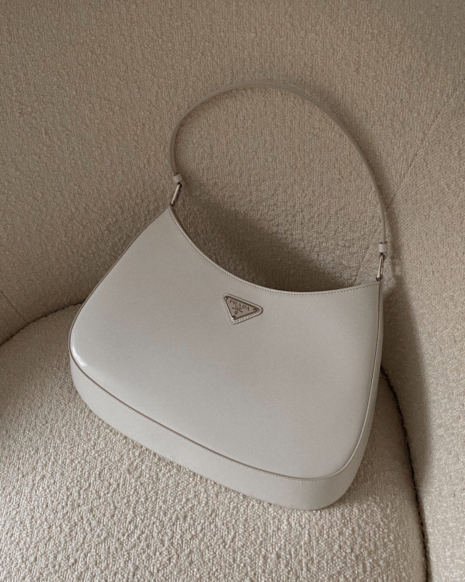 Prada Cleo White Bag