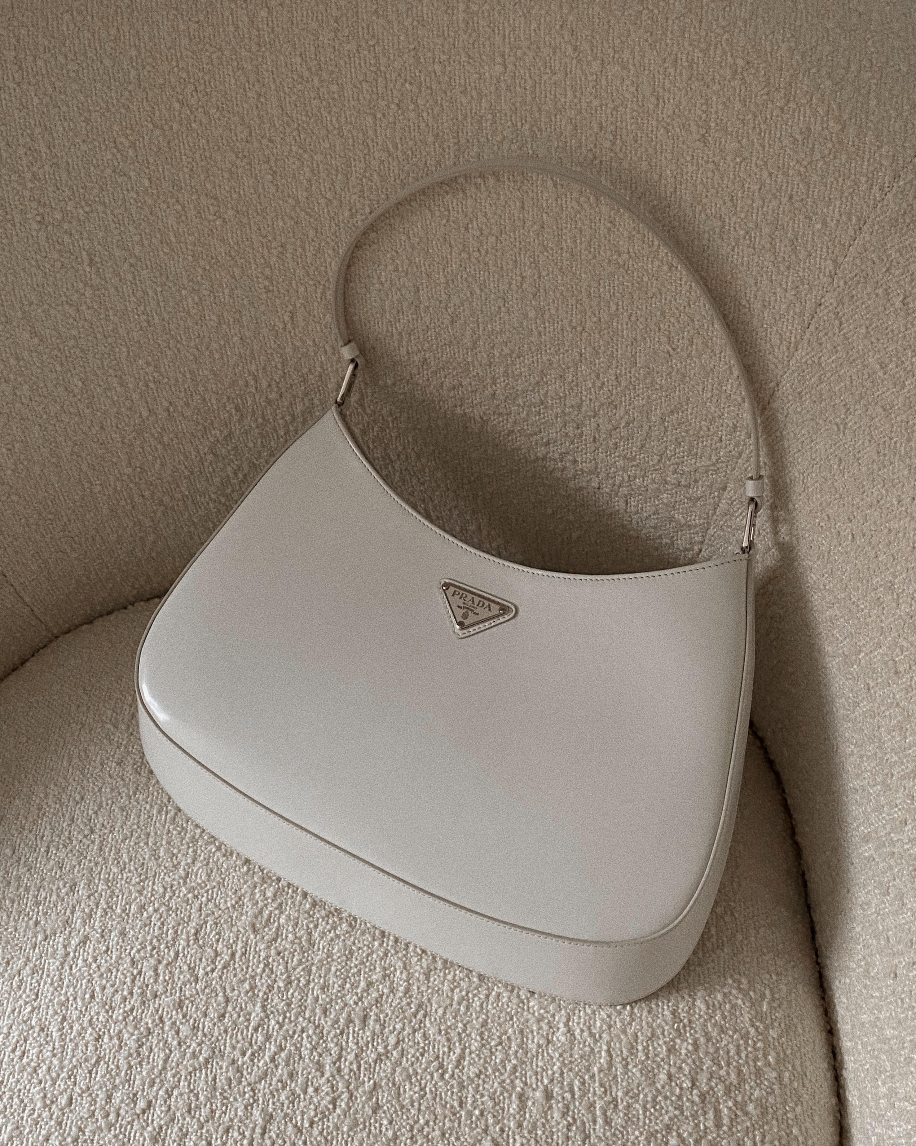 Prada Cleo White Bag- 2021 Fashion Trends