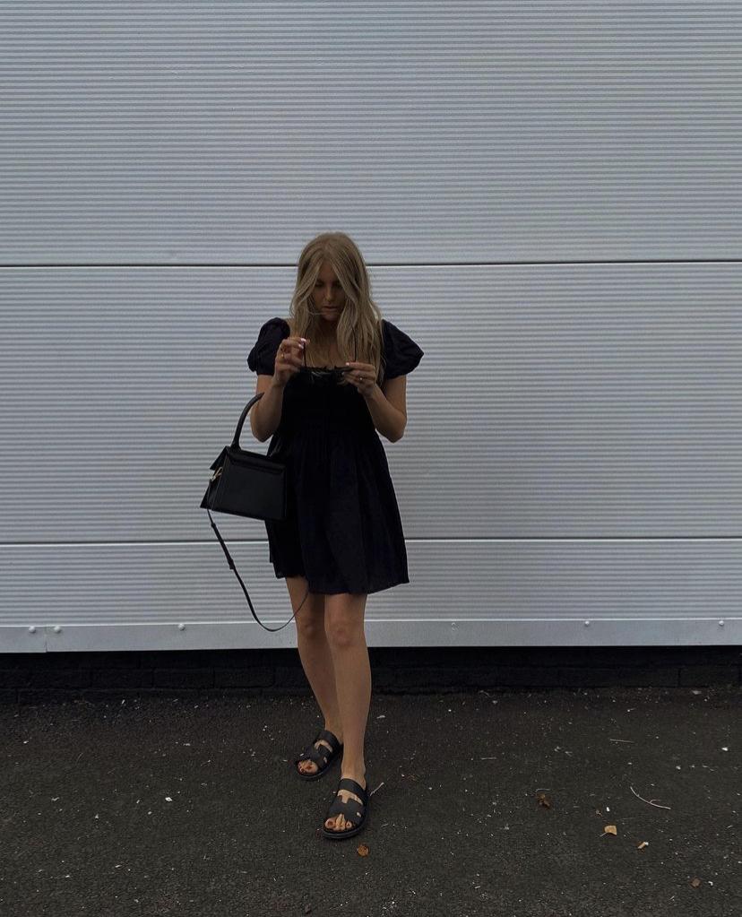 Amazon Fashion Black Linen Dress