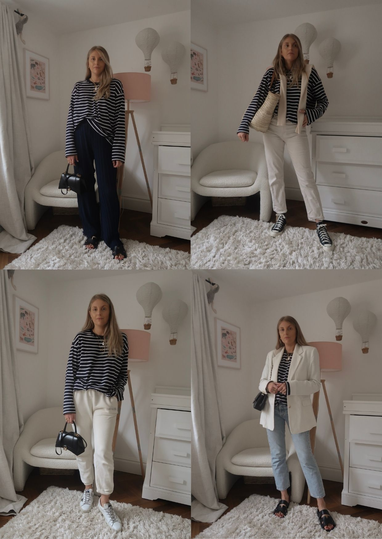 HOW TO STYLE A STRIPED TOP - Arket Striped top in transitional outfit ideas